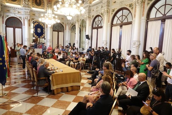 Rueda de prensa Goya en Málaga